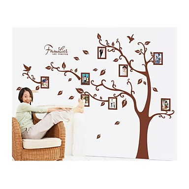 Cartoon Design Botanisch Wand-Sticker Flugzeug-Wand Sticker Foto Sticker, Vinyl Haus Dekoration Wandtattoo Wand