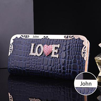 De gepersonaliseerde gift vrouwen faux leer metaal portemonnee (binnen 10 tekens)