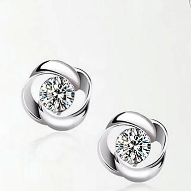 Damen Klar Klar Kubikzirkonia Tropfen-Ohrringe - Sterling Silber, Silber Silber Für