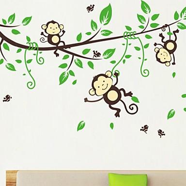 Декоративные наклейки на стены - Простые наклейки Животные Мультипликация Гостиная Спальня Столовая Кабинет / Офис Девочки кафе