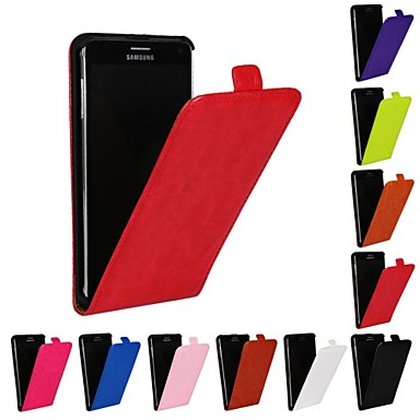 Pouzdro Uyumluluk Samsung Galaxy Samsung Galaxy Note Flip Tam Kaplama Kılıf Tek Renk PU Deri için Note 4