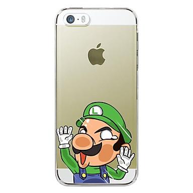 Voor iPhone 5 hoesje Ultradun / Transparant / Patroon hoesje Achterkantje hoesje Cartoon Zacht TPU iPhone SE/5s/5