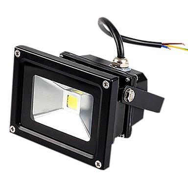 jiawen® siyah IP65 su geçirmez 10w 980lm 3000-3200k / 6000-6500k sıcak beyaz ışık / beyaz ışık sel lamba led (DC 12V)