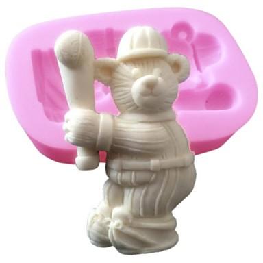 3D σιλικόνης τούρτα μούχλα του αθλητισμού διακόσμηση μούχλα μπέιζμπολ αρκούδα σιλικόνης για τη σοκολάτα φοντάν τέχνες σαπούνι&χειροτεχνία