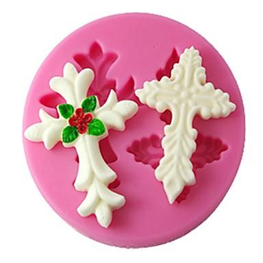 quatro c ferramentas fondant molde decoração silicone molde do bolo 3d cor-de-rosa
