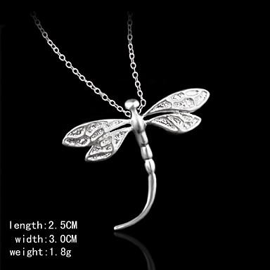 ασημένια pendents σχήμα Dragonfly pendents γυναικών