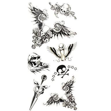 1 - 18.5*8.5cm - Πολύχρωμο Άλλα - Αυτοκόλλητα Τατουάζ - Μοτίβο/Χαμηλά στην Πλάτη/Waterproof - από Χαρτί για Γυναικεία/Αντρικά/Ενήλικες/Εφηβικό