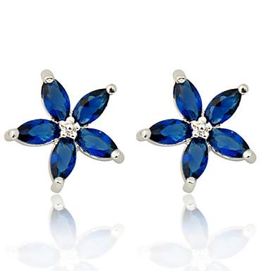 Σκουλαρίκι Κουμπωτά Σκουλαρίκια Κοσμήματα 2pcs Γάμου / Πάρτι / Καθημερινά / Causal / Αθλητικά Ζιρκονίτης ΓυναικείαΛευκό / Κόκκινο / Μπλε