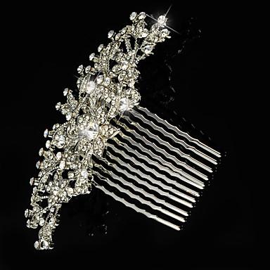 Bruiloft/Feest - Haarkammen (Kristal/Strass/Verzilverd , Zilver)