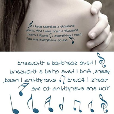 Outros Tatuagem Adesiva - Non Toxic/Lombar/Waterproof - para Criança/Feminino/Masculino/Adulto/Adolescente - de Papel - Verde - 6*10.5cm (2.36*4.13in)
