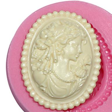 κόσμημα θηλυκό καλούπι σιλικόνης κυρία καλούπι σιλικόνης για φοντάν πάστα των ούλων fimo& σοκολάτα SM-473