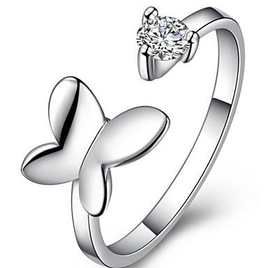 Κρίκοι Γάμου / Πάρτι / Καθημερινά / Causal Κοσμήματα Ασήμι Στερλίνας Γυναικεία Εντυπωσιακά Δαχτυλίδια 1pc,Ρυθμιζόμενο
