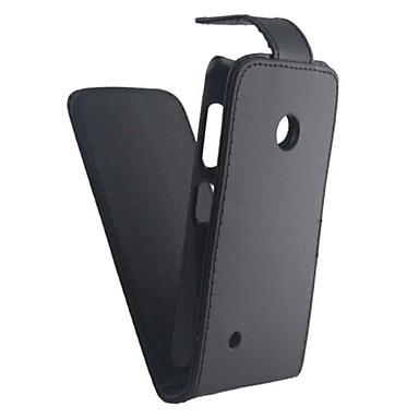 Pouzdro Uyumluluk Nokia / Nokia Lumia 530 Nokia Kılıf Flip / Buzlu Tam Kaplama Kılıf Solid Sert PU Deri için