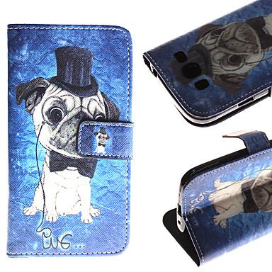 Para Samsung Galaxy Capinhas Carteira / Porta-Cartão / Com Suporte / Flip / Estampada Capinha Corpo Inteiro Capinha Cachorro Couro PU