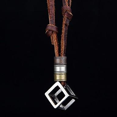 Verklaring Kettingen / Medaillons ketting / Vintage ketting - Leder Vintage Bruin Kettingen Voor Feest, Dagelijks, Causaal / Hangers / Hangers