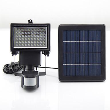 y-ηλιακή 60 leds ηλιακή powered οδήγησε έκτακτης ανάγκης επαναφορτιζόμενη φώτα οδήγησε φως PIR αισθητήρα κάμπινγκ υπαίθρια ηλιακά