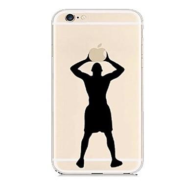 Για Θήκη iPhone 6 Θήκη iPhone 6 Plus Θήκες Καλύμματα Διαφανής Με σχέδια Πίσω Κάλυμμα tok Παίζοντας με το λογότυπο της Apple Σκληρή PC για