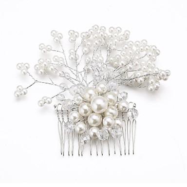 Κρύσταλλο Απομίμηση Μαργαριταριού Ύφασμα Κράμα Τιάρες Κομμάτια μαλλιών Λουλούδια 1 Γάμου Ειδική Περίσταση Πάρτι / Βράδυ Headpiece