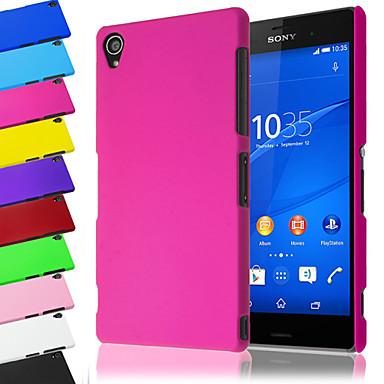 Capinha Para Sony Xperia Z3 Sony Xperia Z3 Capinha Sony Áspero Capa traseira Côr Sólida Rígida PC para Sony Xperia Z3 Sony