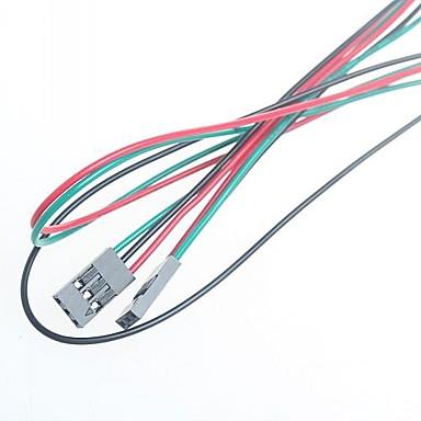 70cm 3pin vrouwelijke - vrouwelijke jumperkabel dupont lijn voor arduino