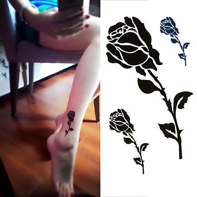 1 Non Toxic Φυλετικό Χαμηλά στην Πλάτη Waterproof Σειρά Λουλουδιών Αυτοκόλλητα Τατουάζ