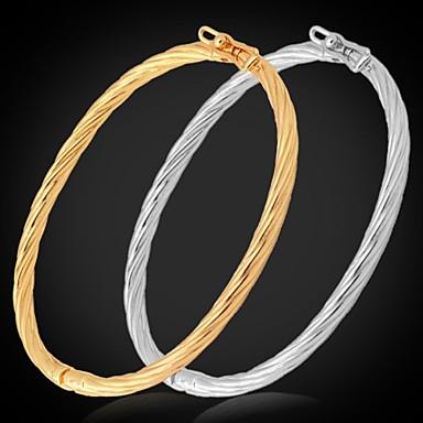 cheap Bracelets-Women's Bracelet Bangles Platinum Plated Gold Plated Ladies Bracelet