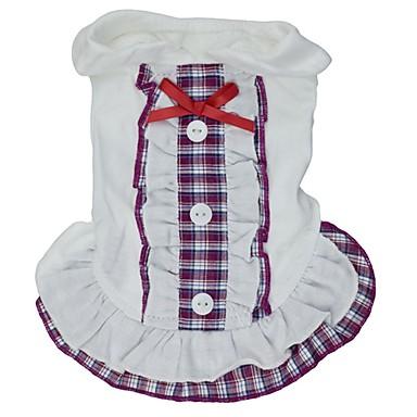Kat Hond Jurken Hondenkleding Cosplay Bruiloft Geruit Strik Paars Rood Blauw Kostuum Voor huisdieren