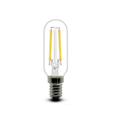 E14 Lâmpadas de Filamento de LED T 2 COB 180 lm Branco Quente 2700 K AC 220-240 V
