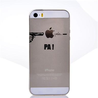 Capinha Para iPhone 5 Apple iPhone X iPhone X iPhone 8 Plus Capinha iPhone 5 Transparente Estampada Capa traseira Brincadeira Com Logo da