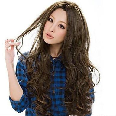 Συνθετικές Περούκες Πυκνότητα Γυναικεία κοστούμι περούκα Μακρύ Συνθετικά μαλλιά