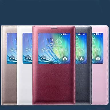 Capinha Para Samsung Galaxy Samsung Galaxy Capinhas com Visor Hibernação / Ligar Automático Flip Capa Proteção Completa Côr Sólida PU