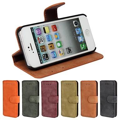 DE JI Pouzdro Uyumluluk iPhone 5 / Apple iPhone 8 / iPhone 8 Plus / iPhone 5 Kılıf Kart Tutucu / Satandlı / Flip Tam Kaplama Kılıf Solid Sert PU Deri için iPhone 8 Plus / iPhone 8 / iPhone SE / 5s