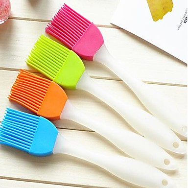 Yaratıcı ev mutfak silikon fırça (rastgele renk) temizlemek için yumuşak bir fırça
