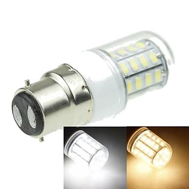 b22 conduziu luzes de milho t 40 smd 5630 1200-1600lm branco quente branco frio 3000-3500k 6000-6500k decorativo ac 220-240v
