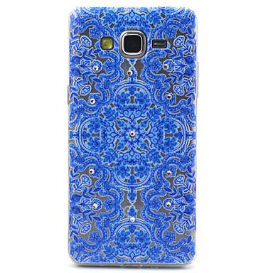 Capinha Para Samsung Galaxy Samsung Galaxy Capinhas Transparente Estampada Capa traseira Flor TPU para Grand Prime