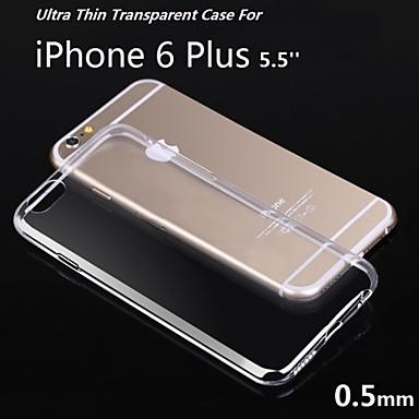 5.5inch ultra dunne zachte TPU gel doorzichtige case voor de iPhone 6s plus / 6 plus