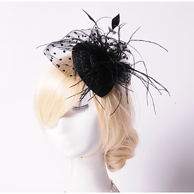 Μαργαριτάρι Κρύσταλλο Φτερό Ύφασμα Δίχτυ Τιάρες Γοητευτικά Καπέλα 1 Γάμου Ειδική Περίσταση Πάρτι / Βράδυ ΕΞΩΤΕΡΙΚΟΥ ΧΩΡΟΥ Headpiece