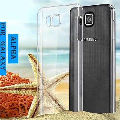 Capinha Para Samsung Galaxy Samsung Galaxy Capinhas Transparente Capa traseira Côr Sólida PC para Alpha