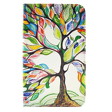 Capinha Para Tab S 8.4 Samsung Galaxy Porta-Cartão Carteira Com Suporte Flip Estampada Capa Proteção Completa Árvore Rígida PU Leather