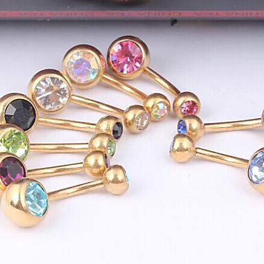 Dames Navel & Bell Button Rings Kristal / Roestvast staal Sieraden,1pc