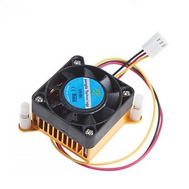 4cm şasi grafik kartı ısı alıcı radyatör 12v ile soğutma fanı