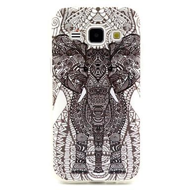 Para Samsung Galaxy Capinhas Case Tampa Estampada Capa Traseira Capinha Elefante PUT para Samsung Galaxy J1