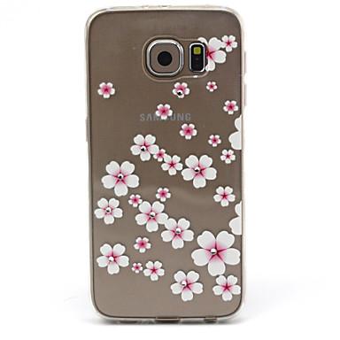 tok Για Samsung Galaxy Samsung Galaxy Θήκη Στρας Διαφανής Πίσω Κάλυμμα Λουλούδι TPU για S6