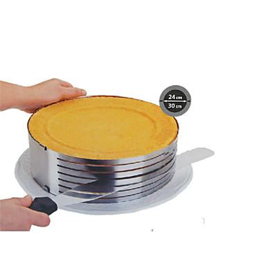 fashion metalen cirkel verstelbare RVS chiffon mousse taart laag uitgesneden snijmachine bakvormen koken cake ss-43