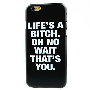 Para iPhone 8 iPhone 8 Plus iPhone 7 iPhone 7 Plus iPhone 6 iPhone 6 Plus Case Tampa Estampada Capa Traseira Capinha Palavra / Frase