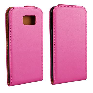 effen kleur echte pu rundleder magnetische flip portemonnee case voor de Samsung Galaxy s6 g9200
