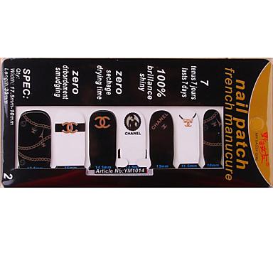 Abstract/Schattig/Punk/Bruiloft - Vinger - 3D Nagelstickers 1 - stuks 10*7*0.1 - (cm)