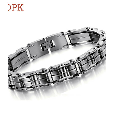 voordelige Heren Armband-Dames Armband Vintage Feest Werk Informeel Schakels / ketting Titanium Staal Armband sieraden Voor Dagelijks