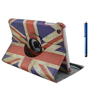 hoesje Voor iPad Air met standaard Origami 360° rotatie Volledig hoesje Vlag PU-nahka voor iPad Air
