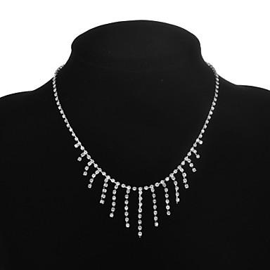 Dames Hangertjes ketting Koper Strass Gesimuleerde diamant Hangertjes ketting , Bruiloft Feest Dagelijks Causaal Sport